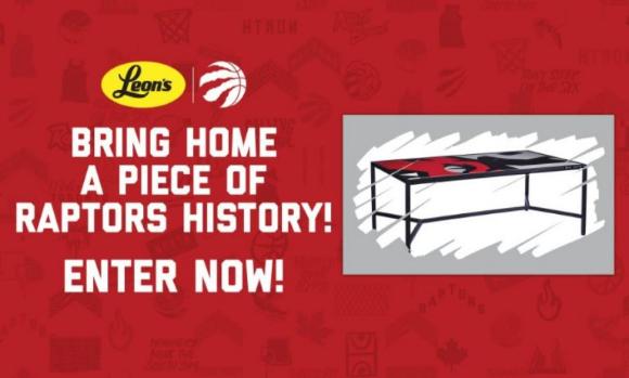 Leon's Raptors Coffee Table Promotion – Win 1 of 200 Raptors Coffee Tables