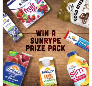 SunRype August Giveaway – Win a SunRype prize pack