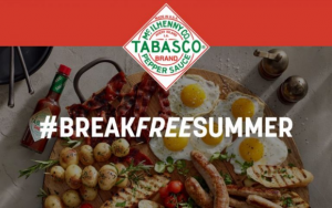 Tabasco Break Free Summer  – Win one of fifty-six $100 restaurant gift cards