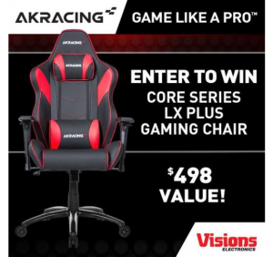 Win an AKRacing Core Series LX Plus Gaming Chair from Visions Electronics –