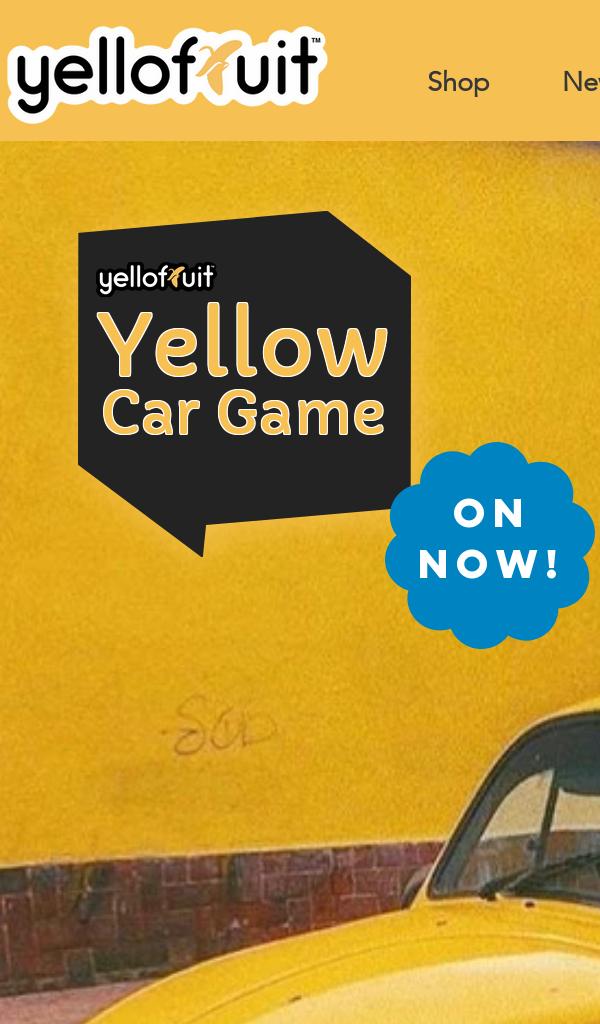 Win YelloFruit Yellow Car Game Contest