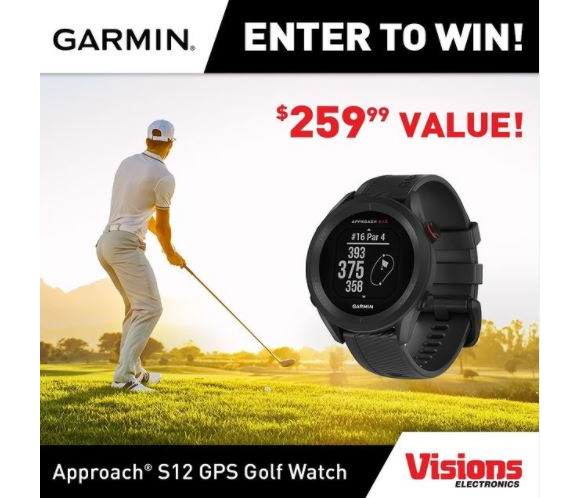Visions Electronics  – Win a Garmin Approach S12 GPS Golf Watch valued at $259
