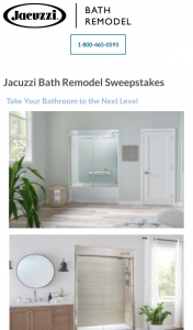 Win Lifestyle Home Products $10K Jacuzzi Bath Remodel Contest