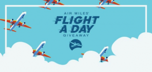 Air Miles' Flight a Day Giveaway 2021 – Win a $5,000 flight voucher daily and the grand prize of a $25,000 flight voucher