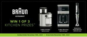 Linen Chest Braun 2021 – Win 1 of 3 kitchen prizes from Braun