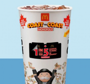 McDonalds Coast to Coast Monopoly 2021- Win a share of over $80 million in prizes